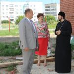 Глава района посетил строящийся Храм